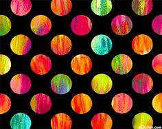 Patio Prints - Summer Season Dots - Black