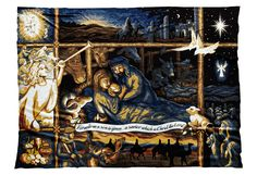 Nativity Blanket - Show your love of Nativity scenes with this tender scene. Available in three colors.