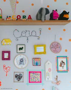 Na casa da atriz Flávia Rubim, o quarto de sua filha Cora é um dos ambientes mais bacanas de todos. Com decoração colorida handmade, ele é pura inspiração.