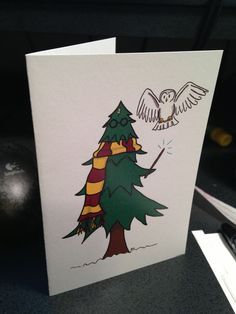 Trendy Ideas For Birthday Card Diy Funny Harry Potter - Weihnachten Lustig Carte Harry Potter, Harry Potter Navidad, Harry Potter Weihnachten, Harry Potter Cards, Harry Potter Gifts, Harry Potter Christmas Gifts, Harry Potter Drawings, Funny Christmas Cards, Xmas Cards