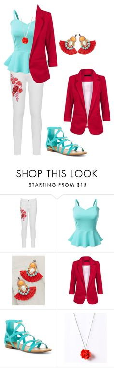 """""""Turquoise and Red - Awesome or Horrible?"""" by ejk181 on Polyvore featuring WearAll, Doublju, Bea Valdes and Breckelle's"""