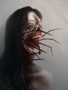 r/ImaginaryHorrors: /r/ImaginaryHorrors - The art of horror. If it is scary, it is welcome here. Arte Horror, Horror Art, Vampires, Scary Dreams, Avatar, Horror Themes, Dark Artwork, Creepy Pictures, World Of Darkness