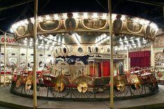 Musée des Arts Forains, Paris. A private collection of antique fairground attractions.