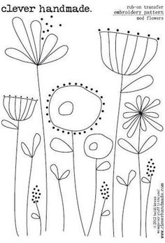 Hand Embroidery Patterns Free, Embroidery Flowers Pattern, Simple Embroidery, Hand Embroidery Stitches, Crewel Embroidery, Machine Embroidery, Embroidery Kits, Beginner Embroidery, Hand Stitching