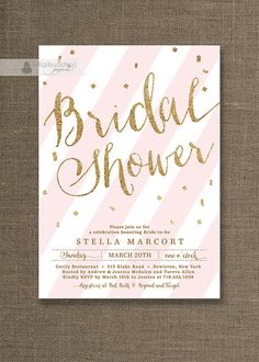 Hey, I found this really awesome Etsy listing at https://www.etsy.com/jp/listing/176944098/gold-glitter-bridal-shower-invitation