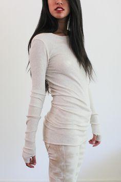 Souchi - Luxury Cashmere Sweaters, Dresses, Skirts, and Bikinis by Suzi Johnson - enza costa cashmere cuff crew