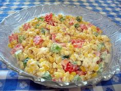 TASTY CORN SALAD One of my summer favs. I use salt-free canned corn (much sweeter than regular) and chop the onion and pepper very small.
