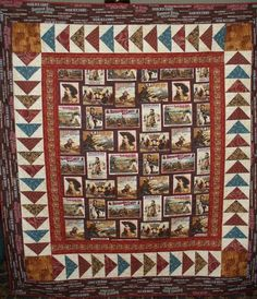 Cowboy Quilt. These cowboy silhouette quilt blocks come with a ... : cowboy quilt pattern - Adamdwight.com