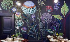 Murals designed by Lucy Tiffney