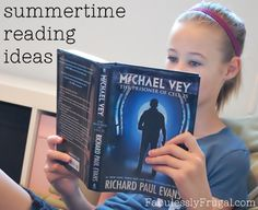 A list of book ideas for kids to read (and me too!).  http://fabulesslyfrugal.com/2012/06/summer-reading-book-ideas-for-the-kids.html