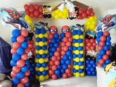 LIKE us for more ideas. Superhero Party Decorations, Balloon Decorations, Birthday Decorations, Party Themes, Party Ideas, Event Planning, Wedding Planning, Cupcake Shops, Balloon Columns