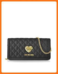 d282166c46cf LOVE MOSCHINO WOMEN S JC4076PP12LA0000 BLACK LEATHER WALLET - Wallets (  Amazon Partner-Link)