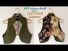 DIY Designer KOTI from leftover Fabric full tutorial//Pn'z World Sewing Blouses, Sewing Shirts, Dress Neck Designs, Saree Blouse Designs, Dress Sewing Patterns, Sewing Ideas, Sewing Projects, Sewing Hacks, Shirt Patterns