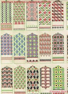 tautas cimdu raksti patterns for mittens knitting patterns, embroidery patterns and folk ornaments Knitting Charts, Knitting Stitches, Hand Knitting, Knitting Patterns, Embroidery Patterns, Knitted Mittens Pattern, Knit Mittens, Knitted Gloves, Cross Stitch Borders