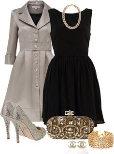 """Black, Silver, and Gold"" by averbeek on Polyvore"