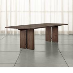 """Monarch Shiitake 108"""" Dining Table - Crate and Barrel"""