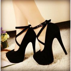 Shop Platform Stiletto Heel Closed-toes Female Prom Shoes on sale at Tidestore with trendy design and good price. Come and find more fashion Pumps here. Black Stiletto Heels, Black High Heels, High Heels Stilettos, High Heels For Prom, High Shoes, Shoes Heels Pumps, Women's Shoes, Dress Shoes, Pretty Shoes