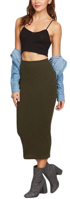 Knit Pencil Skirt, Casual Dresses, Latest Trends, Outfit Ideas, Knitting, Womens Fashion, Skirts, Stuff To Buy, Outfits