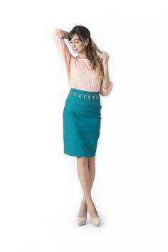 Bosque Paraíso Collection REF: BLOUSE BL0005, SKIRT FA0005  SIZE: XS-1W Material blouse: Viscose /100 .Material skirt: Drill- rayon viscose/polyamide /spandex 77/20/3 Colors Blouse: Rose,white, black, mint,fuchsia. Colors Skirt: black, white,red,green jade. Jade Green, Simple Dresses, Drill, Black White, Dressing, Mint, Spandex, Crop Tops