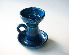 Ceramica BITOSSI Montelupo bugia ceramica blu di RosaGeranio