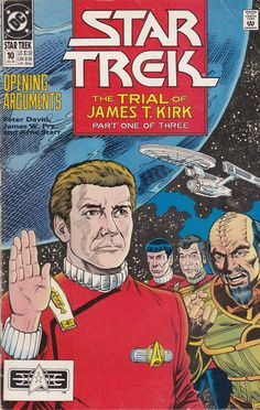 The Trial of James T. Kirk, Part 1 of Kirk's trial begins.and forces are in play that just might end his illustrious career. Written by Peter David, with a Comics For Sale, Free Comics, A Comics, Star Trek Original Series, Star Trek Series, Best Comic Books, Silver Age Comics, Comics Online, Vintage Comics