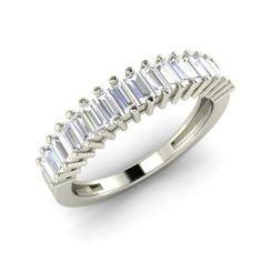 Baguette VS Diamond  Wedding Ring Ring in 14k White Gold