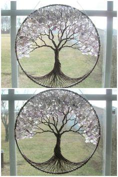 SUPER SALE Huge Amethyst Tree of Life by HomeBabyCrafts on Etsy
