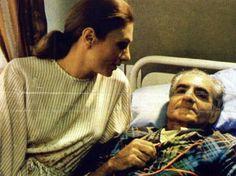 Farah Pahlavi at Shah of Iran's Death Bed 1980