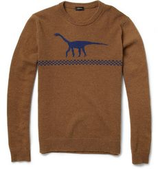 I know this is a guys sweater but its got a friggan dinosaur on it..therefore it is awesome.