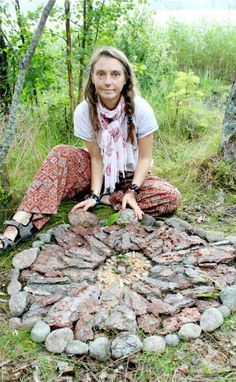 eco design mandala forest  лесо-терапия  мандалы эко дизайн