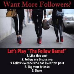 💥  PLEASE KEEP SHARING! 💥  NEW FOLLOW GAME Want more followers?  Just follow the instructions above. . . & watch your followers grow!  💥 Don't forget to tag your friends & share, share, share!!!! 💥  HAPPY POSHING!!! Louis Vuitton Shoes
