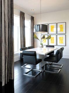 decorar com móveis pretos
