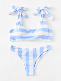 ¡Consigue este tipo de bikini de SheIn ahora! Haz clic para ver los detalles. Envíos gratis a toda España. Striped Ruched Detail Bikini Set: Blue Bikinis Sexy Vacation Polyamide YES Striped Swimwear. (bikini, bikini, biquini, conjuntos de bikinis, twopiece, bikini, bikini, bikini, bikini, bikinis)