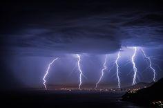 Lightnening - Dec 2014 at Stanwell Tops in NSW Australia