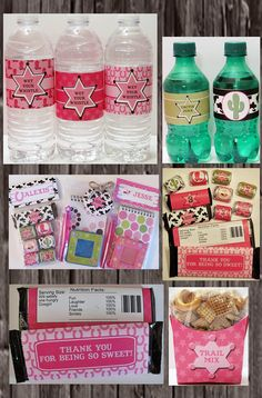 Cowgirl Birthday Party Printable Party Pack, everything you need!  $12
