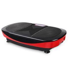 Vibration Machine Body Shaper Fitness Massage Slim1200W Double Motor Vibrating Exercise Platform Red Black