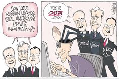 Political cartoons by Signe Wilkinson