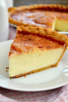 This Sugar Cream Pie tastes like creme brulee in pie form! Buttery creamy sugary custard fills a flaky pie crust thats topped with sweet cinnamon sugar. Amazingly heavenly and so easy!