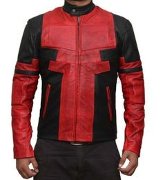 More suggest Ryan Reynolds Deadpool PU Leather Jacket Costume (XXXL) for Christmas Gifts Idea Online Shopping Cool Jackets For Men, Stylish Jackets, Stylish Men, Faux Leather Jackets, Leather Men, Lambskin Leather, Black Leather, Deadpool Jacket, Deadpool Costume