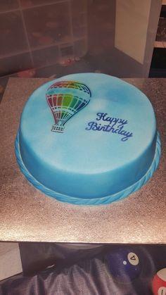 Airbrushed hot air balloon cake