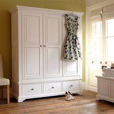 Ascot Triple Wardrobe, painted furniture, painted wood, bedroom, wooden floors, sunshine, floral dress, blanket box
