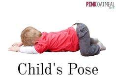 Yoga poses for calming. Focus on breathing in and out!