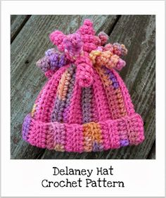 CrazySocks Crochet: CROCHET PATTERN - Delaney Hat