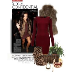 """Kim Kardashian's Leopard Booties"" by deborah-simmons on Polyvore"