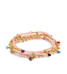 shashi beaded & tassel bracelet set
