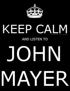 this is my husband, completely.  i know he's trying to calm down if he's got on john, jason mraz or maroon five.