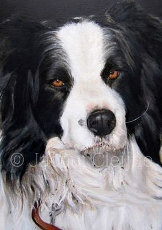 Tyler Pet Portrait Art by Jacqui Cleijne Private Collection