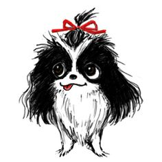 Japanese Chin Illustration
