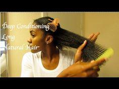 How To Deep Condition Natural Hair (Video) - Ethnic Hair Care - Haar Pflege Long Natural Hair, Natural Hair Journey, Natural Hair Styles, Au Natural, Natural Beauty, Turbans, Hair Care Recipes, Black Hair Care, Hair Regimen