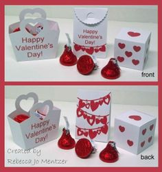 Favor Boxes - most made from cut files with designs from the Silhouette online store.